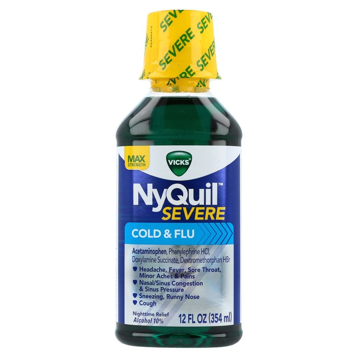 Vicks NyQuil Severe Cold & Flu Liquid - 12 OZ