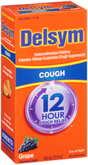 Delsym 12 Hour Cough Relief Liquid Grape - 5 OZ