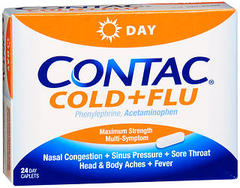 Contac Cold + Flu Caplets Day - 24 EA