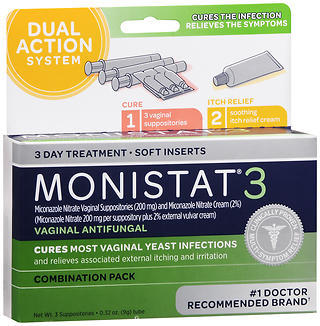 MONISTAT 3 Combination Pack - 3 EA