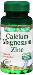 Nature's Bounty Calcium Magnesium Zinc Caplets - 100 TAB