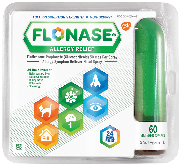Flonase 24 Hour Allergy Relief Nasal Spray - 0.34 OZ