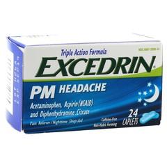 Excedrin PM Headache Caplets - 24 TAB