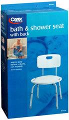Carex Bath & Shower With Back Seat B651-00 - 1 EA