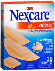 Nexcare Active Waterproof Bandages Assorted - 30 EA