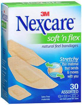 Nexcare Soft'n Flex Natural Feel Bandages Assorted - 30 EA