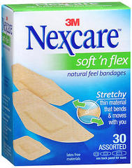 Nexcare Soft'n Flex Natural Feel Bandages Assorted - 30 EA