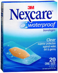 Nexcare Waterproof Clear Bandages One Size - 20 EA