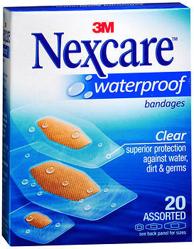 Nexcare Clear Waterproof Bandages Assorted Sizes - 20 EA