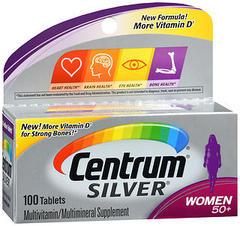 Centrum Silver Women 50+ Multivitamin/Multimineral Tablets