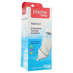 Playtex VentAire Bottle with NaturaLatch Silicone Nipple 9 oz Medium Flow - 9 OZ