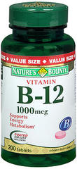 Nature's Bounty Vitamin B-12 1000 mcg Tablets - 200 TAB