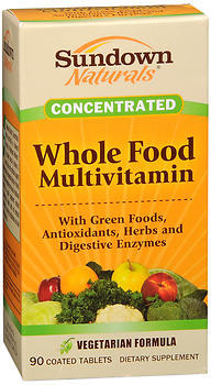 Sundown Naturals Concentrated Whole Food Multivitamin Coated Tablets - 90 TAB