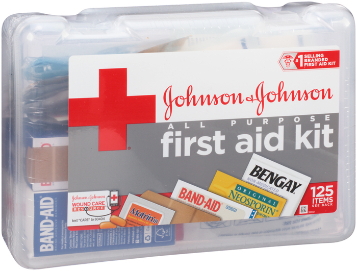 Johnson & Johnson All-Purpose First Aid Kit - 140 Items
