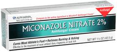 Alpharma Miconazole Nitrate 2% Antifungal Cream - 1.5 OZ