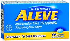 Aleve Pain Reliever/Fever Reducer, Caplets  - 50ea