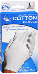 Cara Cotton Gloves L - 1 EA