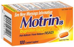 Motrin Ibuprofen Caplets - 100 TAB