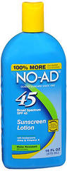 NO-AD Sunscreen Lotion SPF 45 - 16 OZ