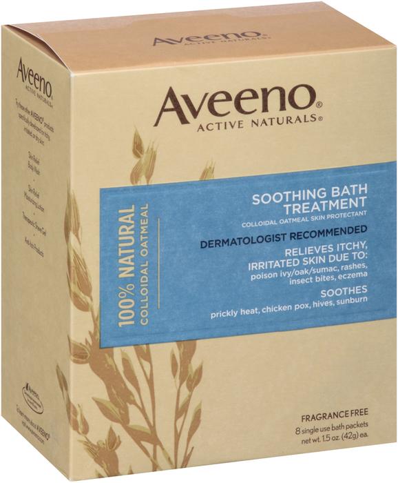 Aveeno Soothing Bath Treatment, Fragrance Free  - 8ea