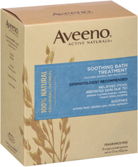 Aveeno Soothing Bath Treatment, Fragrance Free  - 8ea