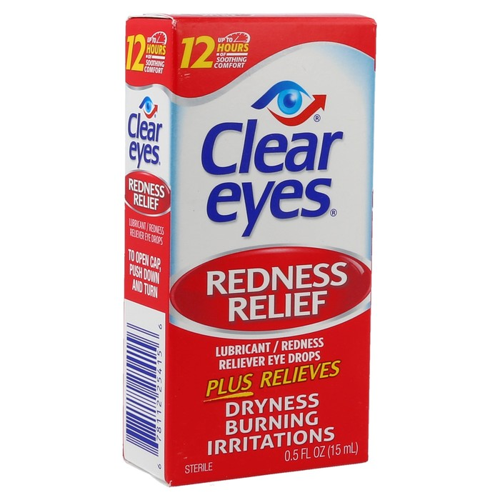 Clear Eyes Redness Relief Drops - 1 OZ