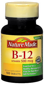 Nature Made Vitamin B-12 500 mcg Tablets - 100 Tablets