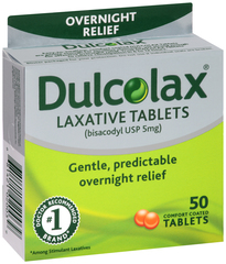 Dulcolax Laxative, 5 mg, Comfort Coated Tablets  - 50ea