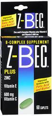 Z-Bec B Complex Plus Zinc, Vitamin E, & Vitamin C, Tablets  - 60ea