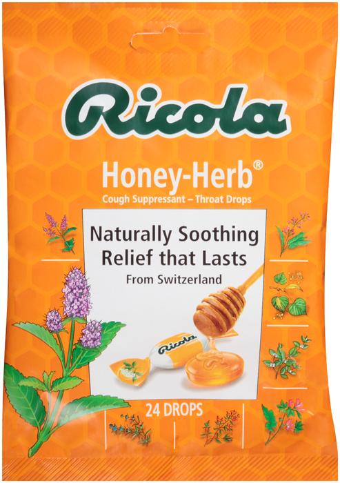 Ricola Throat Drops Natural Honey Herb - 24 Each