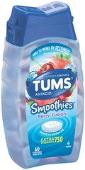 TUMS Smoothies Tablets Berry Fusion  -  60 Tablets