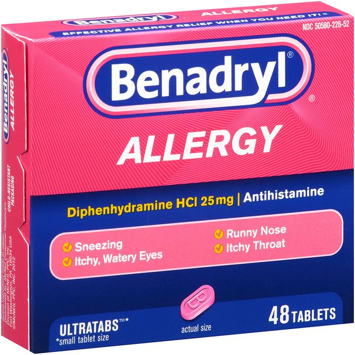 Benadryl Allergy, Ultratab Tablets, Value Size  - 48ea