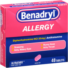 Benadryl Allergy, Ultratab Tablets, Value Size  - 48ea