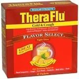 Theraflu Flu Cold Cough Medicine Original Formula Lemon 12ea