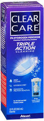 Clear Care Cleaning and Disinfecting Solution  -  12 OZ