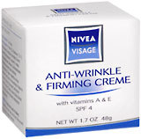 Nivea Visage Anti-Wrinkle and Firming Cream SPF 4 - 1.7 Ounces