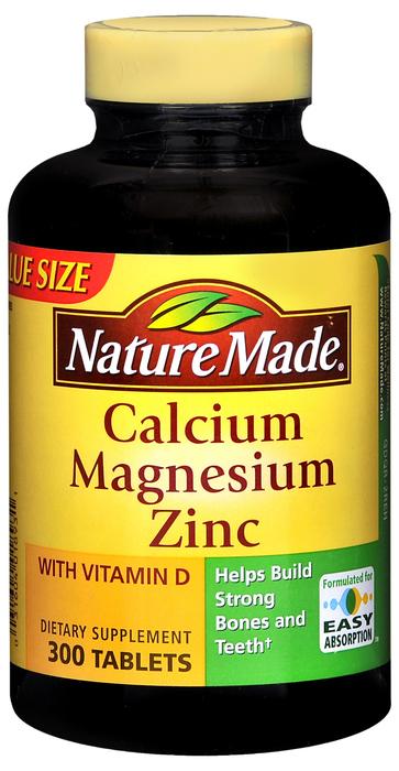 Nature Made Calcium/Magnesium/Zinc Tablets - 300 Tablets