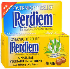 Perdiem Stimulant Laxative - Overnight Relief Pills 60 Ct