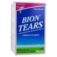 Bion Tears Lubricant Eye Drops - 28 Single Use Vials