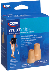 Carex Crutch Tips X-Large A952-00 - 2 EA