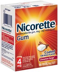Nicorette 4 mg Coated Cinnamon Surge - 100 EA