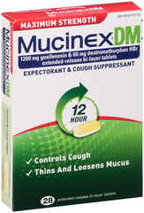 Mucinex DM Expectorant and Cough Suppressant Extended-Release Tablets Maximum Strength - 28 TB