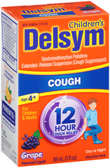 Delsym 12 Hour Cough Relief Children/Adults Grape - 3 OZ