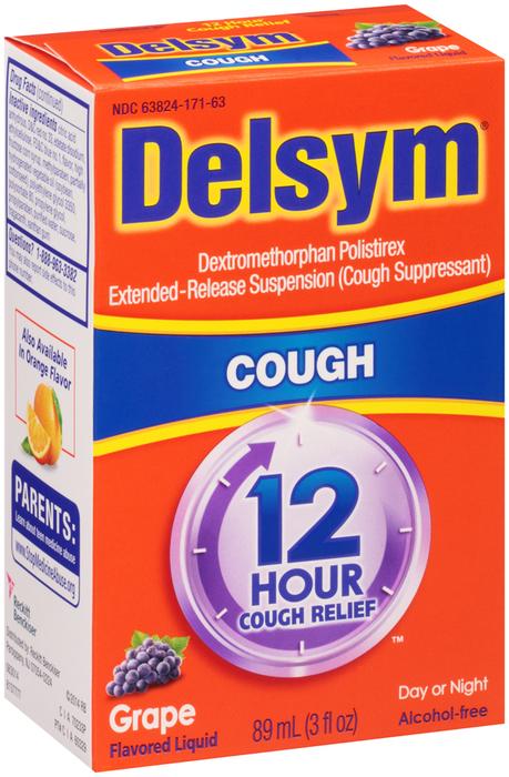 Delsym 12 Hour Cough Relief Grape - 3 OZ