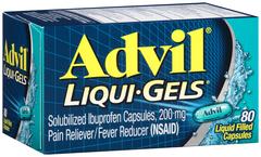 Advil Solubilized Ibuprofen, 200 mg, Liquid Filled Capsules  - 80ea