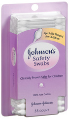 Johnson's Safety Swabs  - 55ea