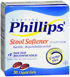 Phillips' Stool Softener/Laxative, Liqui-Gels  - 30ea