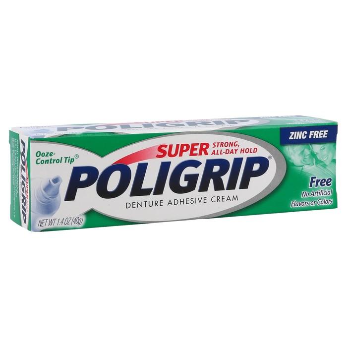 Super PoliGrip Denture Adhesive Cream  - 1.4oz