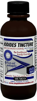 Humco Iodides Tincture (Decolorized Iodine) - 2 OZ