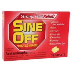 Sine-Off Caplets Sinus/Cold Medicine - 24 CP